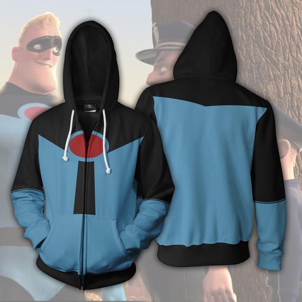 2018 Autumn Winter 3D Print Incredibles Men Sweatshirts Hoodies Fashion Avengers Cosplay Casual Zipper hooded Jacket clothing