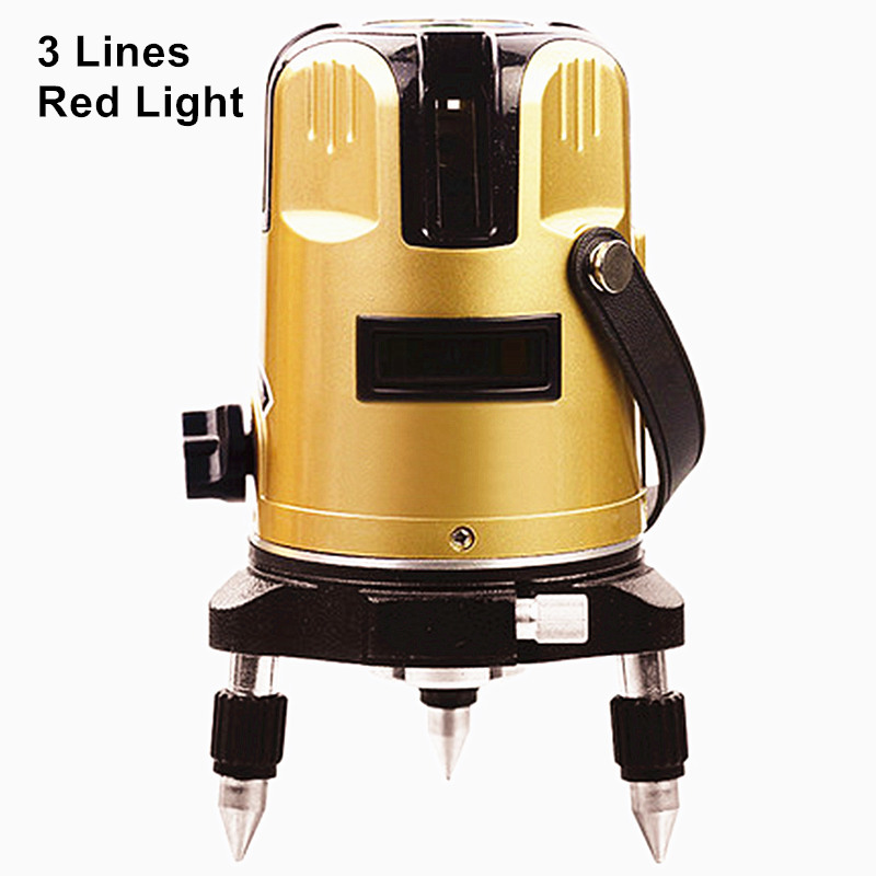 high precision infrared laser level standard 20 times red light 3 lines 3 enhancement points decoration instrument tools li-ion longyun 3 line red light laser level instrument