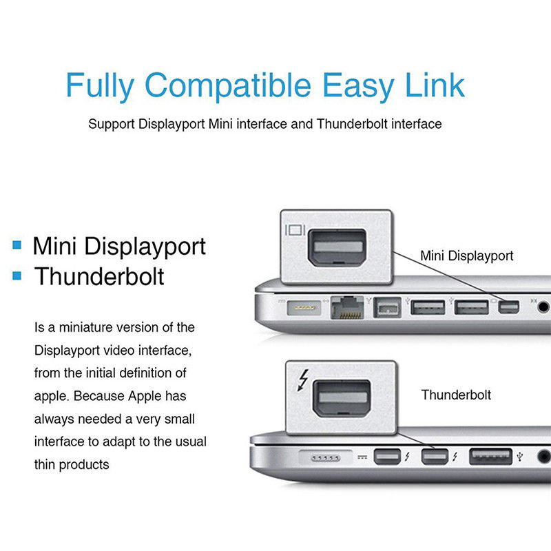 Mayitr 1pc 2 Colors Mini DP to VGA Video Adapter 1080p Thunderbolt Display Port to VGA Cables For Apple Macbook Pro Air