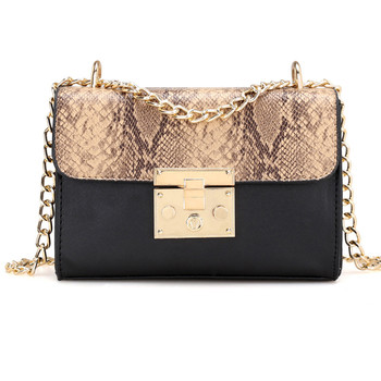 2614fd951dab Женская сумка на плечо с цепочкой Bolsas Feminina змеиная сумка-мессенджер  для женщин сумки torebka damska bolsos mujer