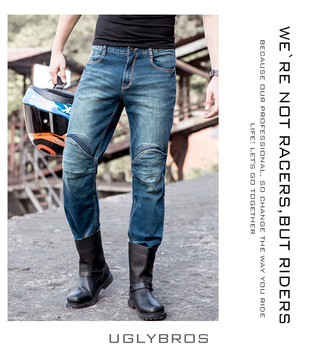 uglyBROS UBP 05Featherbed jeans The standard version car ride jeans trousers Motorcycle jeans Drop the jeans Blue