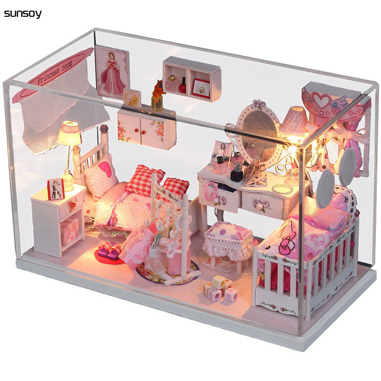 DIY Doll House With Furniture Handmade Wooden House diy Birthday Gifts 3D Puzzles For Adults Lovers and Childrens Dream House