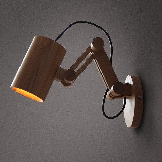 Eiken Moderne houten Wandlamp Verlichting Voor Slaapkamer Home ...