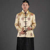 Chinese Traditional Capitalist Garment Long Robe Grown Tang Suit Traditional Dress Men Vetements Traditionnels Chinois