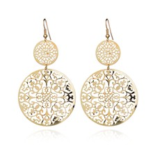 Dangle Long Earrings For Women Classic Pattern Hollow Round Bijouterie Hot Sale No.A339 A340