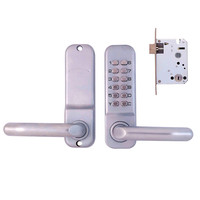 Stylish Push Button Waterproof Lever Handle Mechanical Code Door Lock Keys Machine Combination Locks
