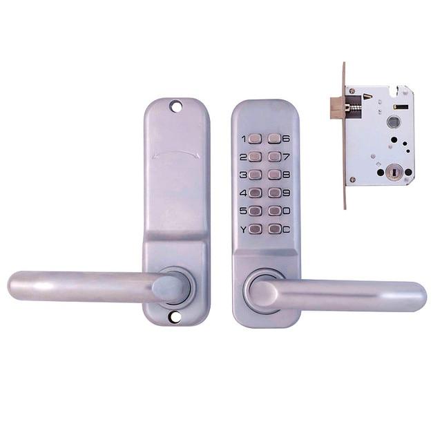Stylish Push Button Waterproof Lever Handle Mechanical Code Door ...