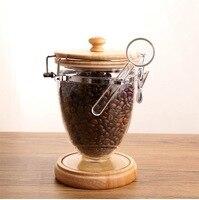 Coffee beans jar milk powder box plastic food transparent tank storage large tea cans