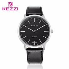 Amantes de la moda kezzi marca mujeres hombre relojes de pulsera de cuero correa de cuarzo casual reloj del regalo relogio masculino feminino k1596 japen