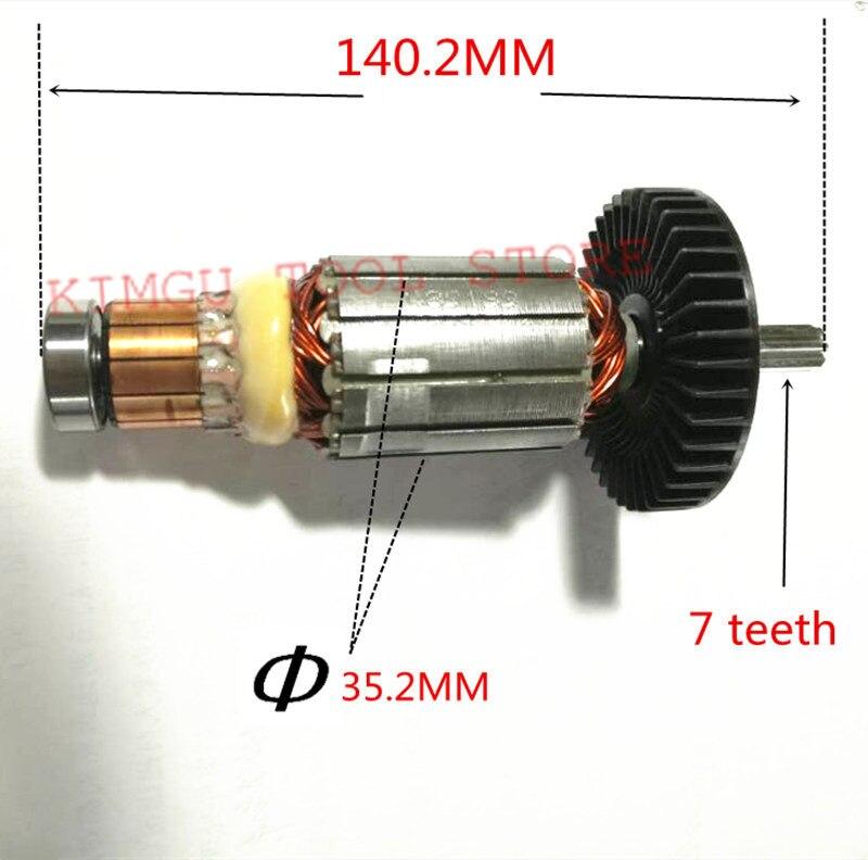 Genuine Motor Armature Engine 519199 5 for Makita DTW450RFE DTW450RMJ DTW450Z BTW450Z BTW450RFE TW450D