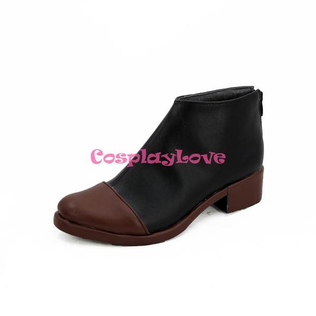 Touken Ranbu en ligne Fudou Yukimitsu noir marron Cosplay chaussures bottes longues plus récent CosplayLove sur mesure