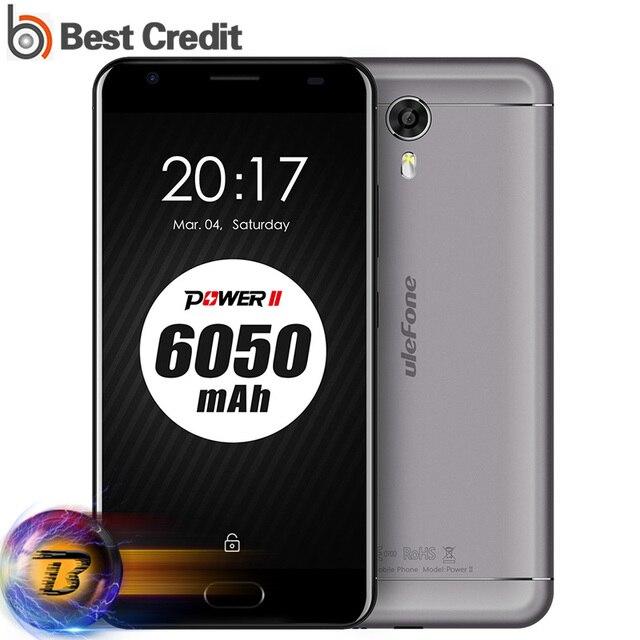 Ulefone Power 2 Mobile Phone 5.5 Inch FHD MTK6750T Octa Core 4GB RAM 64GB ROM 13MP 4G Fingerprint 6050mAh QC 9V/2A full metal