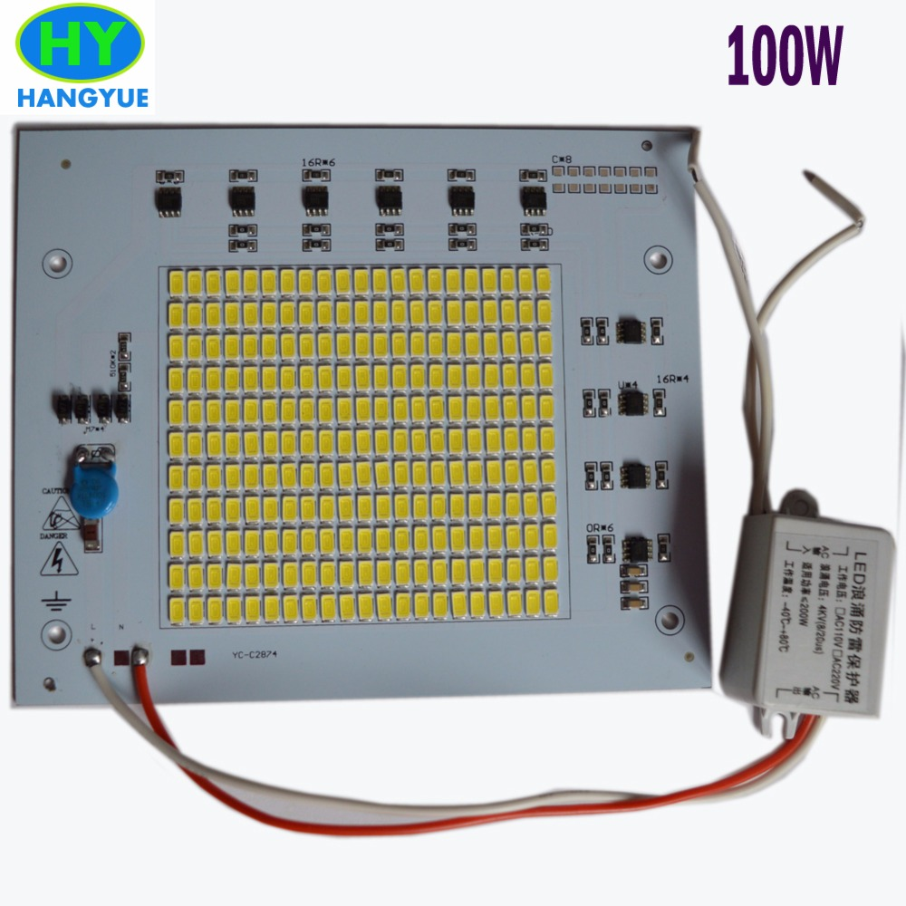 220v Led Pcb Smd5730 10w 20w 30w 50w 80w 100w 150w 200w Integrated Flood Light Wiring Diagram Ic Driver White Warm Source For