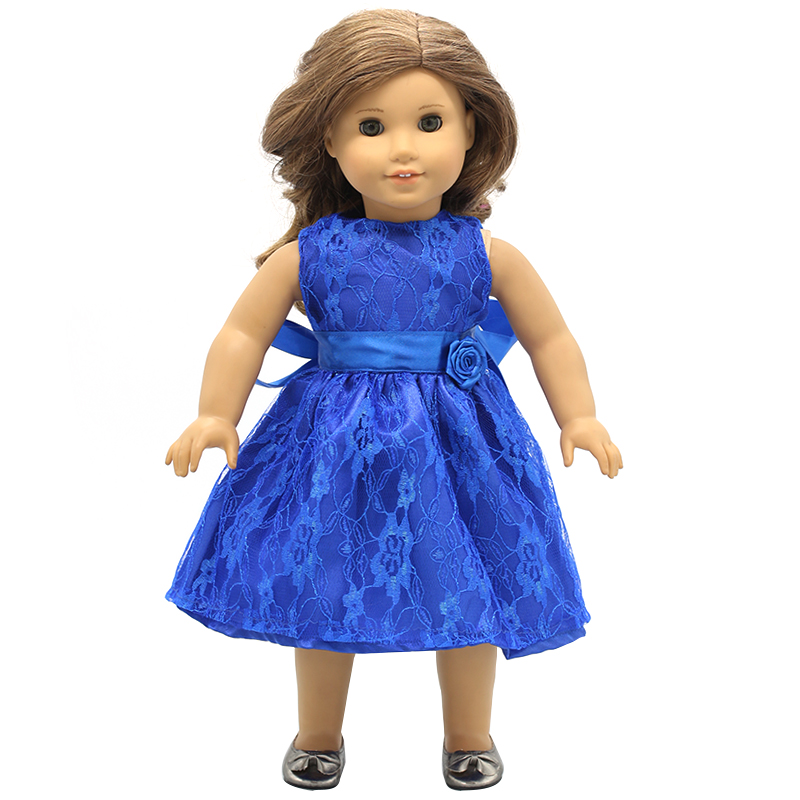 Doll Accessories American Girl Dolls Clothes 15 Colors Style Princess Dress For 16 18 Inch Dolls