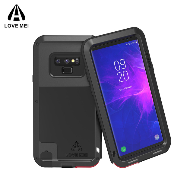 online store 9cbfa 2176e US $35.3 |LOVE MEI Armor Case For Samsung Galaxy Note 9 Heavy Duty Case  Dropproof Metal Hard Cover for Note9 Samsung Powerful Shockproof-in Fitted  ...