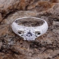 Оптовая продажа посеребренная кольцо, Серебряный мода ювелирных изделий, Округлые инкрустированные блестящие / heuapwba gshapjoa LQ-R177