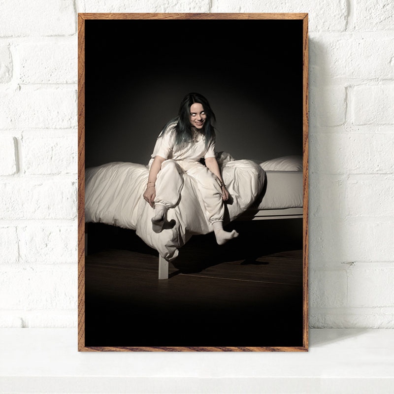 72a483c7f3ac2 Detail Feedback Questions about P223 Billie Eilish Bury a Friend Album  Cover Pop Music Singer Star Art Painting Silk Canvas Poster Wall Home Decor  on ...