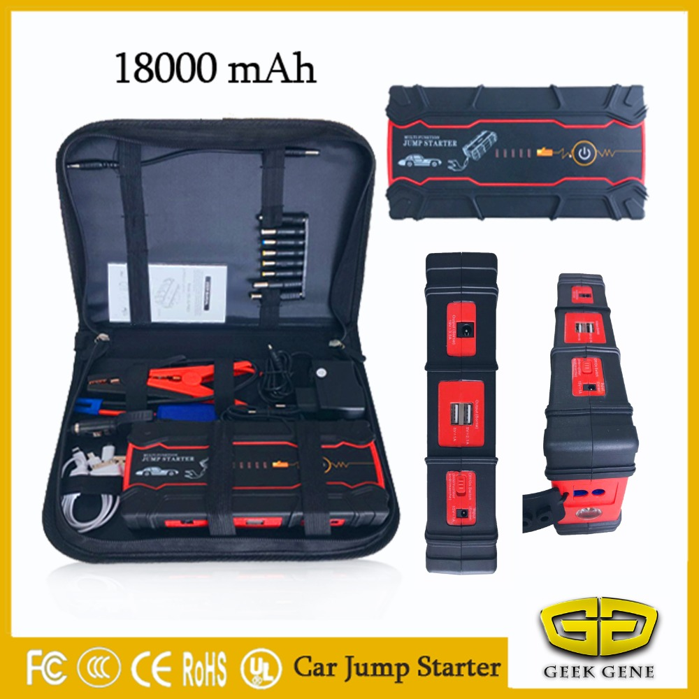 Top New Car jump starter for auto starting device 12V portable power bank pack charger for car battery Booster Buster Diesel CE 2017 30000mah 12vportable car jump booster led charger emergency start power bank new