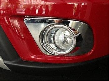 YAQUICKA 2 cái ABS Cho Fiat Freemont 2012 2013 2014 Xe Phía Trước Sương Mù Ánh Sáng Đèn Bìa Bezels Styling Trim Khung nhãn dán Xe-bao gồm