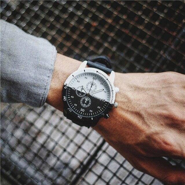 e711ea757873 Moda de hombre relojes superior de la marca de lujo de personalidad  movimiento creativo gran Dial