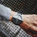 Moda para hombre relojes de primeras marcas de lujo Personalidad Creativa Marea Movimiento Dial Grande Relojes Reloj de Los Hombres casual sport reloj chico