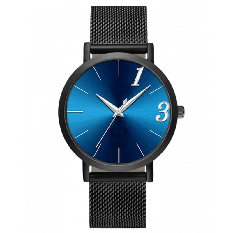 FUNIQUE Simple Mesh Band Watch Alloy Quartz Male Ladies Watch For Women Men Black Silver Color Stainless Steel Strap Wristwatch iw 8758g 3 men s and women s quartz watch fabric classic canterbury stainless steel watch with multi color striped band