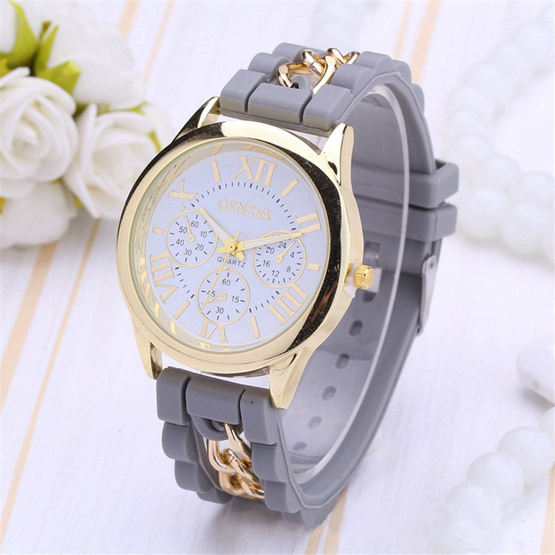 2019 New Fashion Women Girl Watches Silicone Printed Analog Iron Causal Quartz Wrist Ladies Watches Feminino Mujer Dropshipping
