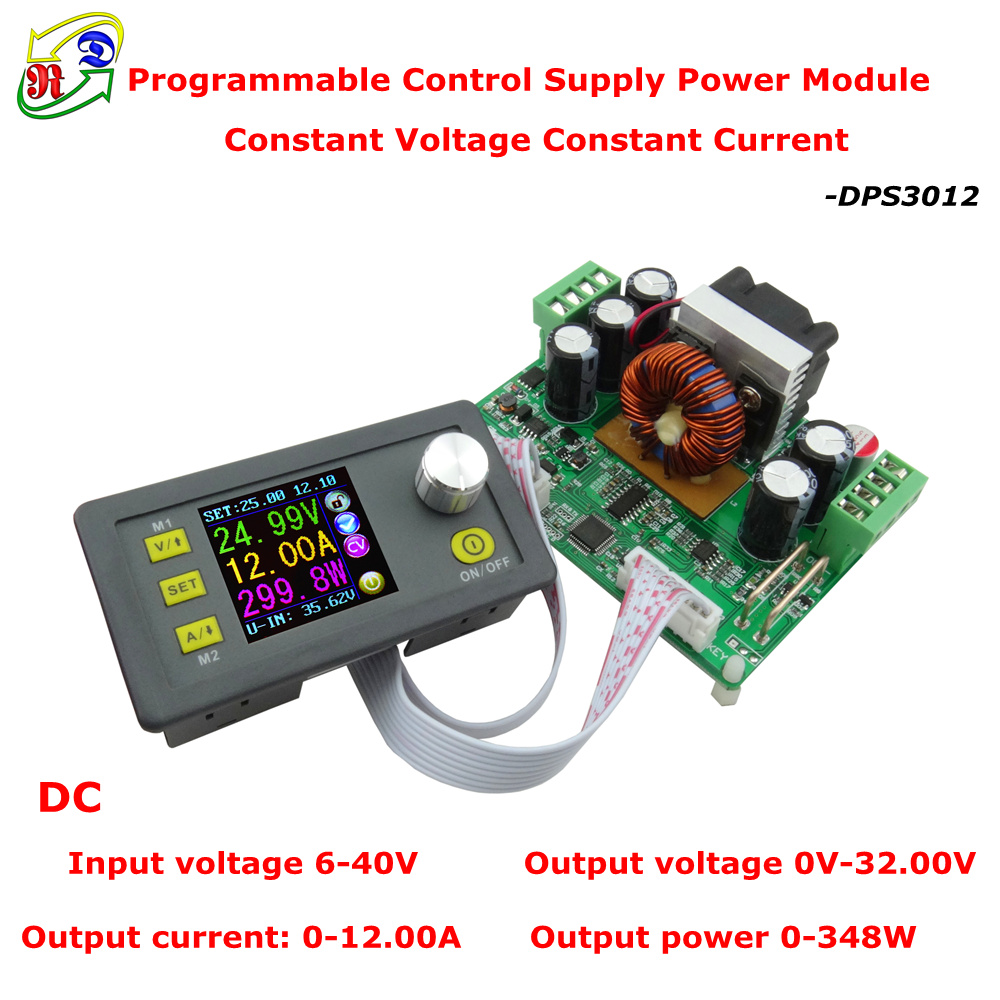 RD DPS3012 Constant Voltage current Step-down Programmable Power Supply module buck Voltage converter color LCD voltmeter