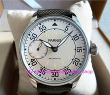 44mm PARNIS Milk-white dial Asian ST3600/6497 Mechanical Hand Wind movement Mechanical watches men's watches sdgd039A