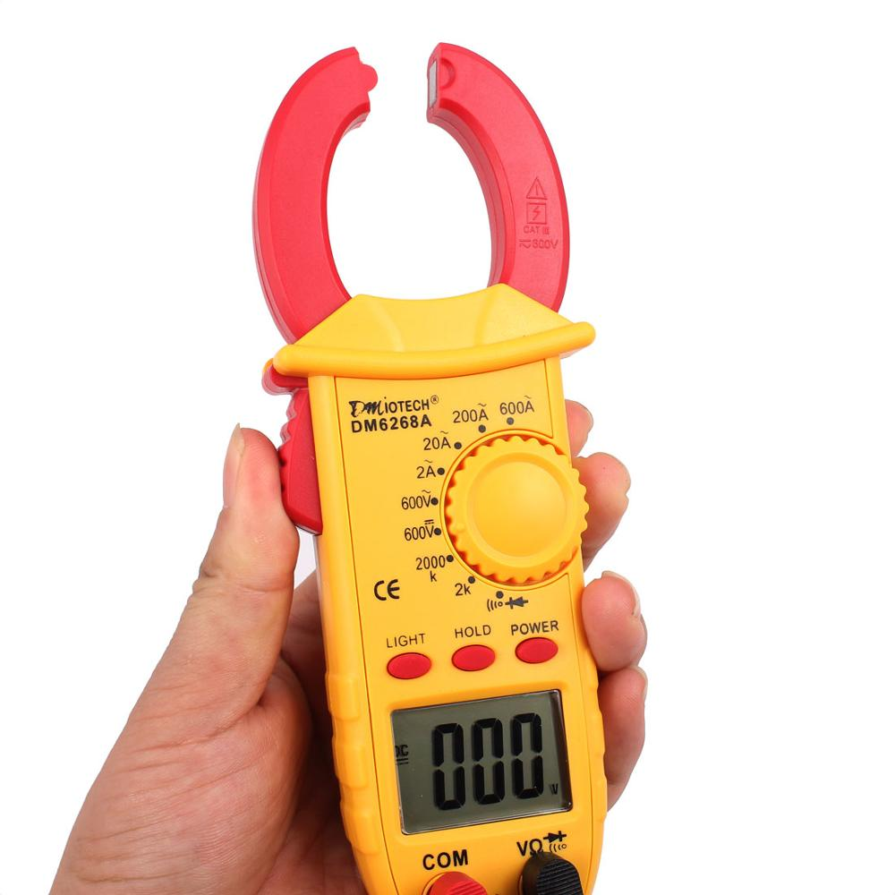 Automatic Range Digital Clamp Meter Tester Portable DMM for Measuring AC Current AC/DC Voltage Resistance Interrupted Circuit  ac millivoltmeter rvt 322 measuring instrument withstand voltage tester pressure hipot tester resistance electronics parameter