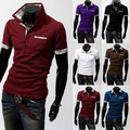 2016 Contrast Colors Man Polo Men Hot Solid Breathable Slim Sale Promotion Fashion Men's Europe Style Short Sleeve Polo Shirts