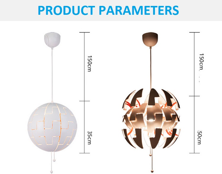 Deformation Ball LED PVC Pendant Lamp (2)