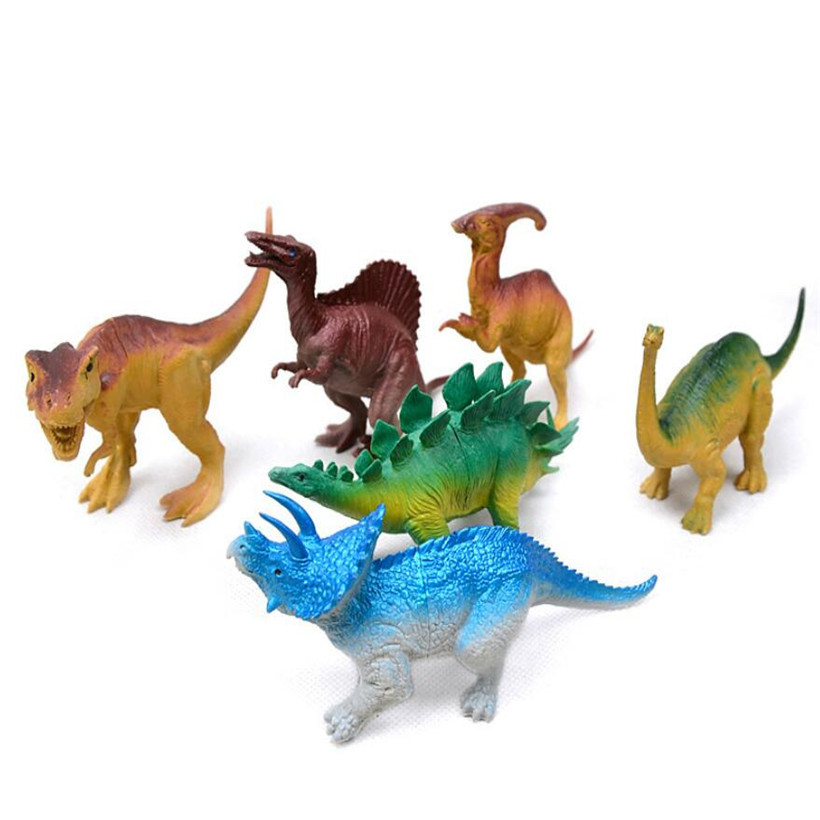 6 Pcs/Set Hot Toys Jurassic Park Anime Figure Pvc Dinosaur Model Mini Toy Action Figure Toys For Children Juguetes Birthday Gift