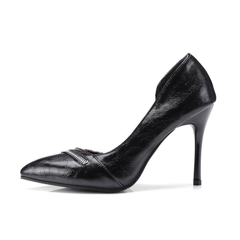Femmes Pompes Talons Minces Sexy chaussures Haute Pointu Peu Profonde wine Chaussures Bouche 2018 À Cr122 Enmayla Black Ol Bout D'été De dOqZxadw6