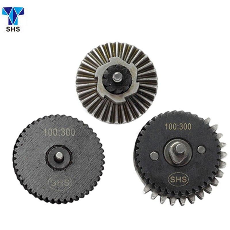 SHS 100:300 Refuerzo súper torque Gear Set para Airsoft AEG Caja de Engranajes h