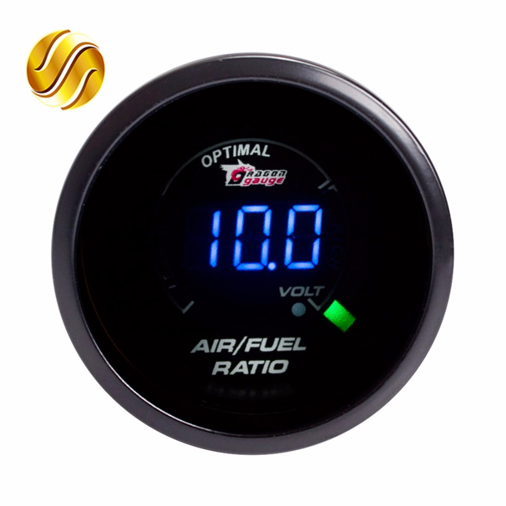 medium resolution of dragon gauge car gauge 2 52mm air fuel ratio gauge car meter blue led