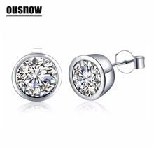 Zircon stud earrings for women girls silver color zinc alloy female small earrings fashion ear jewelry brincos