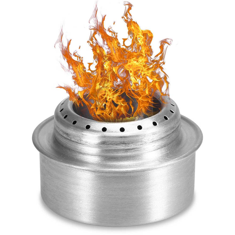 Lixada Mini Lega di Alluminio Alcool Stufa di Campeggio Esterna Stufa Portatile Escursionismo Zaino In Spalla Pentolame E Utensili Per Cucinare Cucina Picnic Stufa