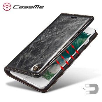 Étui de luxe pour Apple iphone 7 8 6 6 S Olus XS Max XR étui Flip magnétique porte-carte couverture pour Apple iphone 7 Plus étui iphone 7