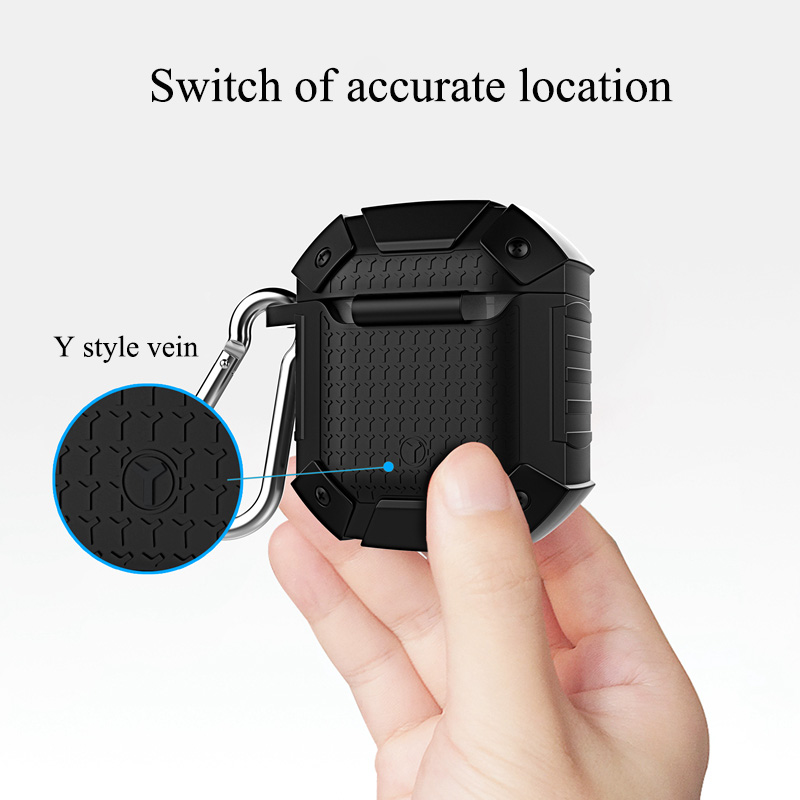 Heavy Duty Shockproof Earphone Case for Airpods 1 2 Case Cover Armor Soft TPU Full Protective Case for Airpods Case Soft Cover in Earphone Accessories from Consumer Electronics
