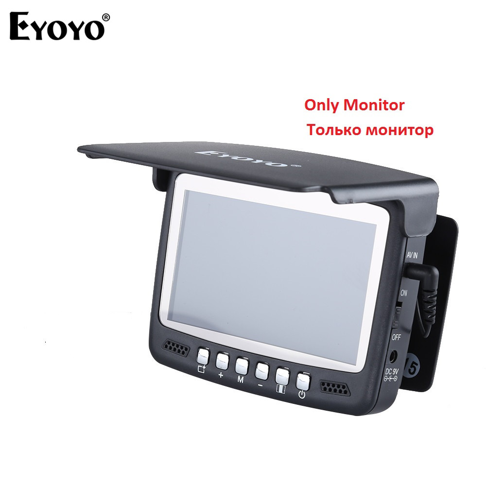 "EYOYO 4.3"" LCD Monitor 1000TVL Fish Finder Underwater Ice Fishing Camera Monitor Repair Replacement for 7HBS-in Fish Finders from Sports & Entertainment"