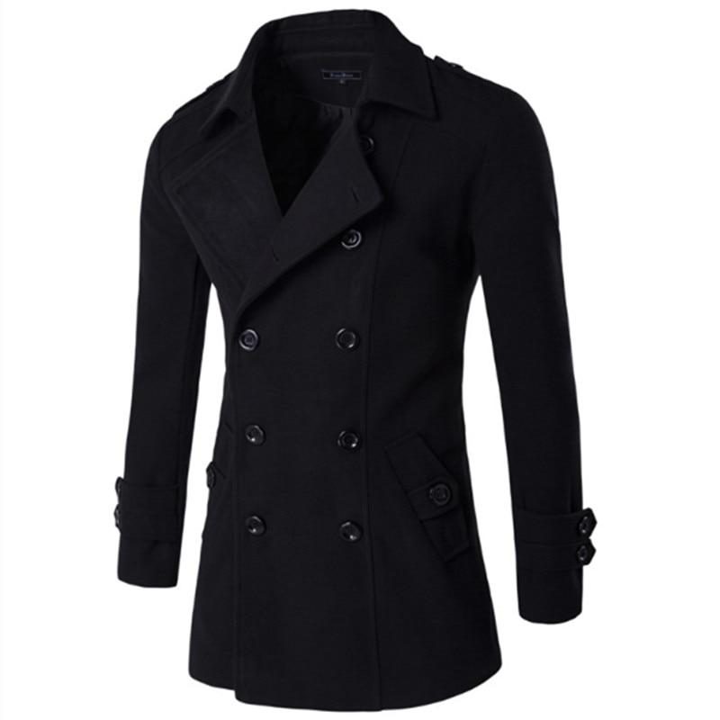 Stil Mantel Schwarz Einfarbig Kapuzen Baumwolle Größe Langarm Punk Blends Plus