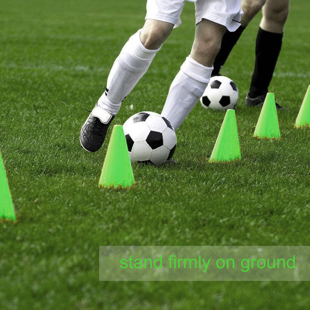 10Pcs Plastic Training Cones Sport Marking Cups Soccer Basketball Skate Marker Outdoor Activity Supplies
