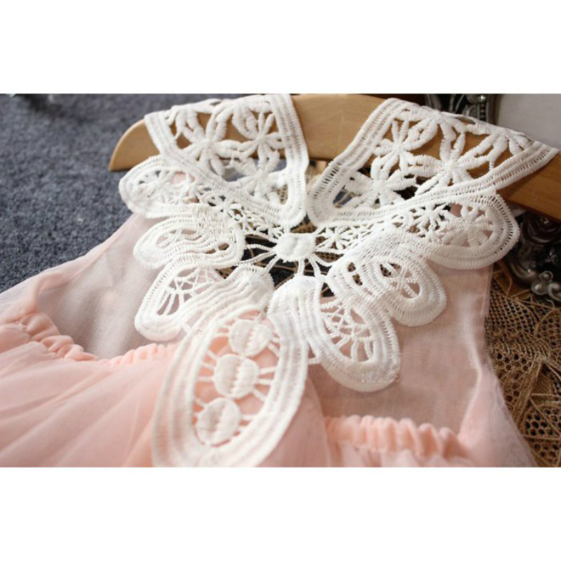 Fashion kids clothes Flower Girl Spring Summer Princess Dress Kid Baby FormalParty Wedding Lace Tulle Tutu Dresses 8