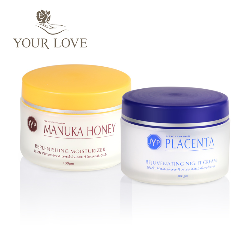 100%NewZealand Manuka Honey Moisturizer Day Cream+Sheep Placenta Night Face Cream Sets Rejuvenation Cream Easy absorbing cream