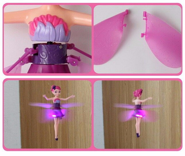 Flying Fairy Magical Princess Cute Drone Dolls Kids Toys Best Gifts