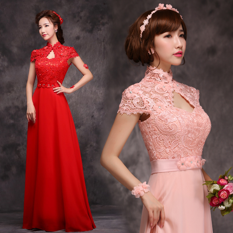 2017 New Cheap Lace Formal Long Red Purple Violet ...