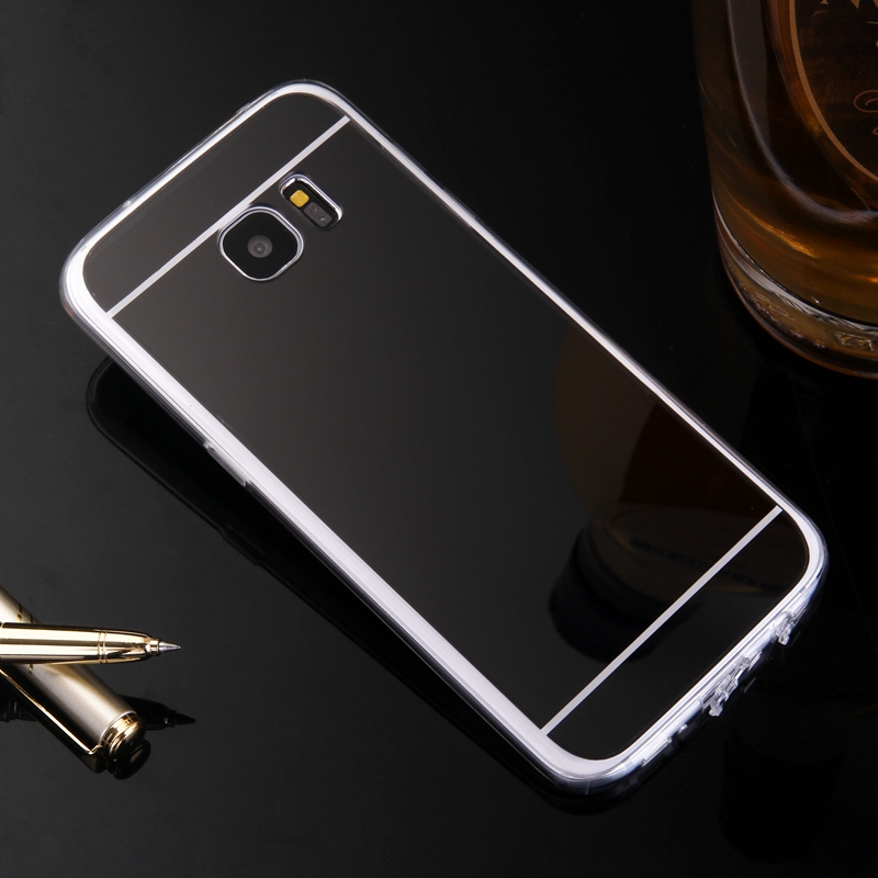 Luxury Etui for Samsung Galaxy S5 S4 S3 A3 A5 A7 2016 Case Mirror TPU Back Phone Cover for Samsung Galaxy S7 S6 Edge A8 G530 +.*