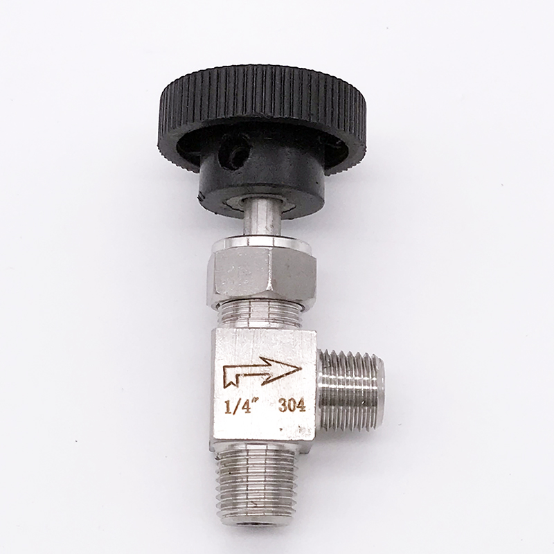 Needle Valve Adjustable Right Angle 90 Degrees 1  4 U0026quot  Male