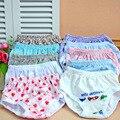 10 piezas de los niños ropa interior Del Envío libre del verano 2016 nuevos niños breifs carácter floral bragas niños pantalones 1-2y